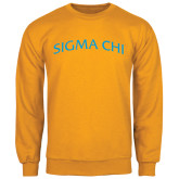 Gold Fleece Crew-Arched Sigma Chi
