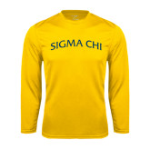 Syntrel Performance Gold Longsleeve Shirt-Arched Sigma Chi