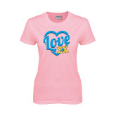 Ladies Pink T-Shirt-Love In Heart