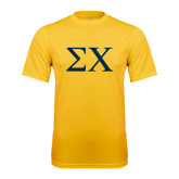 Syntrel Performance Gold Tee-Sigma Chi Greek Letters