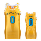 Replica Gold Adult Basketball Jersey-Personalized