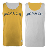 Gold/White Reversible Tank-Arched Sigma Chi