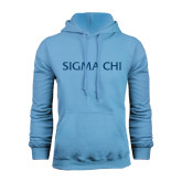 Light Blue Fleece Hoodie-Sigma Chi