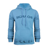Light Blue Fleece Hood-Arched Sigma Chi