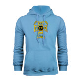 Light Blue Fleece Hood-Badge