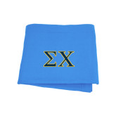 Light Blue Sweatshirt Blanket-Sigma Chi Greek Letters