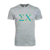 Next Level SoftStyle Heather Grey T Shirt-Sigma Chi Greek Letters