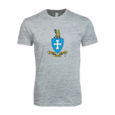 Next Level SoftStyle Heather Grey T Shirt-Crest