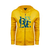 ENZA Ladies Gold Fleece Full Zip Hoodie-Love Stacked