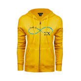 ENZA Ladies Gold Fleece Full Zip Hoodie-Infinity Symbol Sweetheart