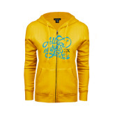 ENZA Ladies Gold Fleece Full Zip Hoodie-All You Need Is Love