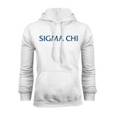 White Fleece Hoodie-Sigma Chi
