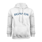 White Fleece Hood-Arched Sigma Chi