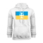 White Fleece Hoodie-Flag