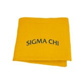 Gold Sweatshirt Blanket-Arched Sigma Chi