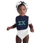Navy Baby Bib-Sigma Chi Greek Letters