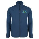 Navy Softshell Jacket-Sigma Chi Greek Letters