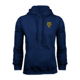 Navy Fleece Hood-Badge