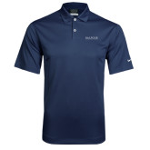 Nike Dri Fit Navy Pebble Texture Sport Shirt-Balfour Wordmark