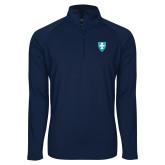 Sport Wick Stretch Navy 1/2 Zip Pullover-Shield