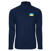 Sport Wick Stretch Navy 1/2 Zip Pullover-Flag