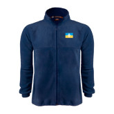 Fleece Full Zip Navy Jacket-Flag