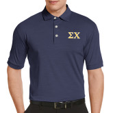 Callaway Tonal Navy Polo-Sigma Chi Greek Letters