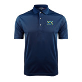 Navy Dry Mesh Polo-Sigma Chi Greek Letters