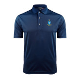 Navy Dry Mesh Polo-Crest