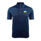 Navy Dry Mesh Polo-Flag