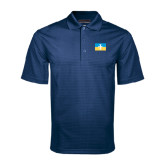 Navy Mini Stripe Polo-Flag