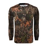 Realtree Camo Long Sleeve T Shirt w/Pocket-Sigma Chi Greek Letters