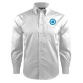 Red House White Dobby Long Sleeve Shirt-Huntsman Cancer Foundation