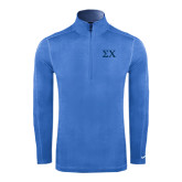 Nike Sphere Dry 1/4 Zip Light Blue Cover Up-Sigma Chi Greek Letters