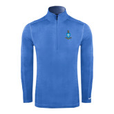 Nike Sphere Dry 1/4 Zip Light Blue Cover Up-Crest