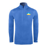 Nike Sphere Dry 1/4 Zip Light Blue Cover Up-Flag