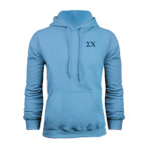 Light Blue Fleece Hood-Sigma Chi Greek Letters