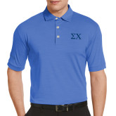 Callaway Tonal Sapphire Blue Polo-Sigma Chi Greek Letters
