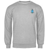 Grey Fleece Crew-Crest