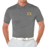 Callaway Opti Vent Steel Grey Polo-Sigma Chi Greek Letters