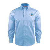 Red House Light Blue Dobby Long Sleeve Shirt-Crest
