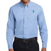 Light Blue Twill Button Down Long Sleeve-Crest