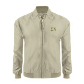 Khaki Players Jacket-Sigma Chi Greek Letters