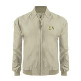 Khaki Players Jacket-Sigma Chi Greek Letters