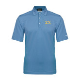 Nike Sphere Dry Light Blue Diamond Polo-Sigma Chi Greek Letters