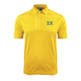 Gold Dry Mesh Polo-Sigma Chi Greek Letters
