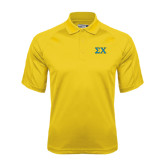Gold Dri Mesh Pro Polo-Sigma Chi Greek Letters