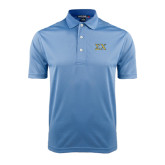 Light Blue Dry Mesh Polo-Sigma Chi Greek Letters