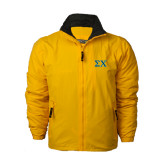 Gold Survivor Jacket-Sigma Chi Greek Letters