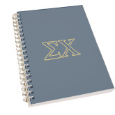 Clear 7 x 10 Spiral Journal Notebook-Sigma Chi Greek Letters
